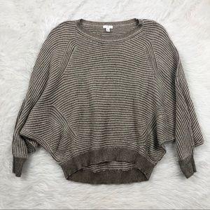 BP Oversized Dolman Knit Brown Cream Sweater